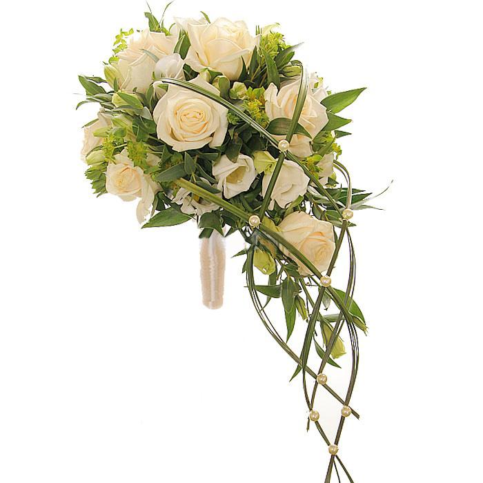 Свадебный каскадный букет из розы.